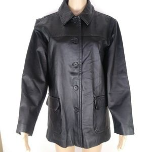 Bagatelle black 100% Leather jacket size m